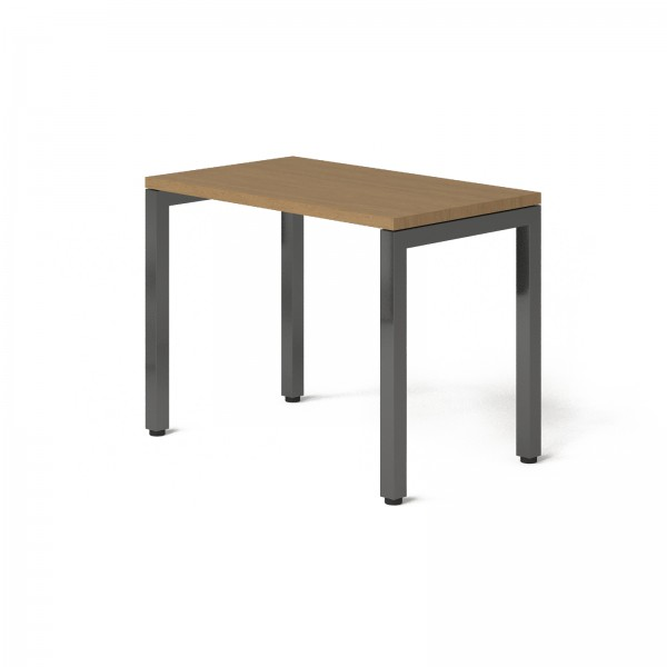 Стол Тавол КС 8.2 металл опоры черные 100смх60смх75см ДСП 32 мм Орех