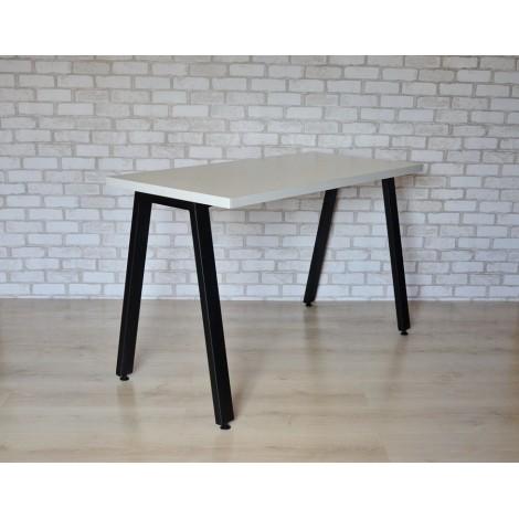 Стол Тавол КС 8.4 металл опоры черные 140смх60смх75см ДСП 32мм Белый