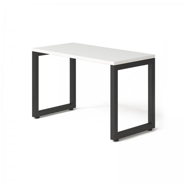 Стол Тавол КС 8.3 металл опоры черные 120смх60смх75см ДСП 32 мм Белый