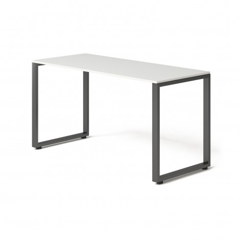 Стол Тавол Loft КС 8.1 металл опоры черные 140смх60смх75см ДСП Белый