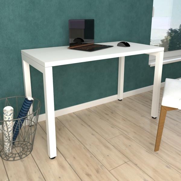 Стол Тавол КС 8.2 металл опоры белые 120смх60смх75см ДСП 32 мм Белый