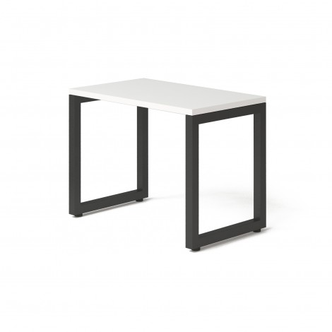 Стол Тавол КС 8.3 металл опоры черные 100смх60смх75см ДСП 32 мм Белый