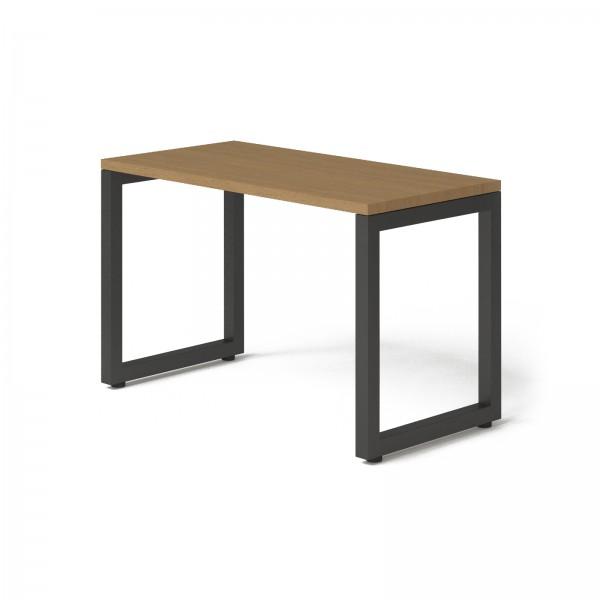Стол Тавол КС 8.3 металл опоры черные 120смх60смх75см ДСП 32 мм Орех