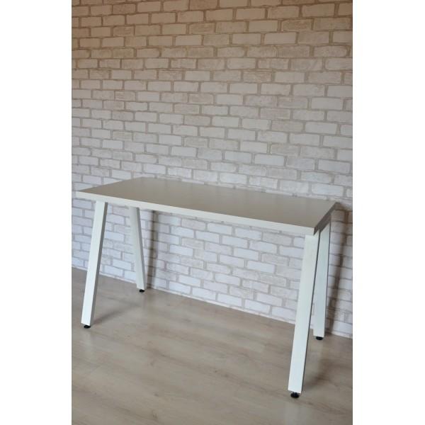 Стол Тавол КС 8.4 металл опоры белые 100смх60смх75см ДСП 32мм Белый