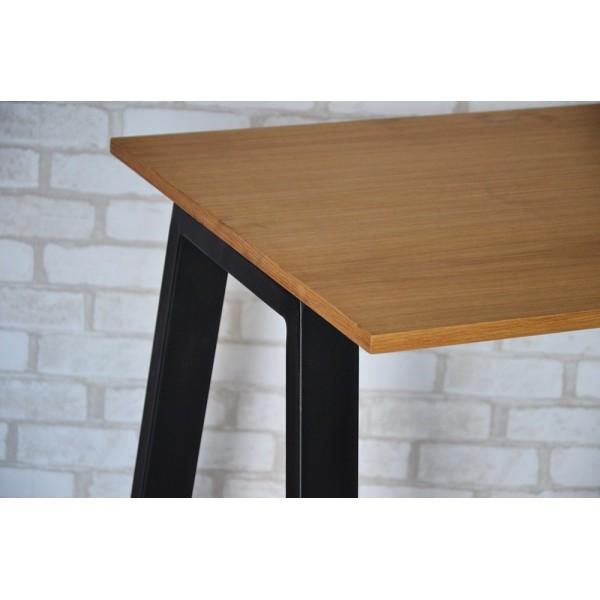 Стол Тавол КС 8.4 металл опоры черные 120смх60смх75см шпон натурального дерева ДУБ