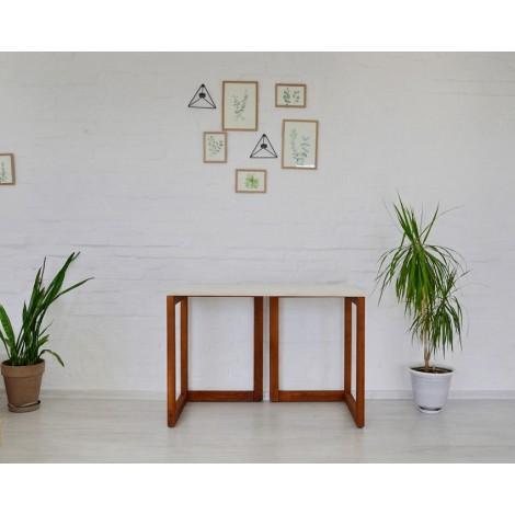 Стол Тавол Рахмен натуральное дерево 110смх55смх75см Орех+Белый