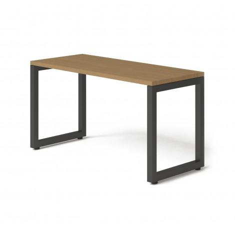 Стол Тавол КС 8.3 металл опоры черные 140смх60смх75см ДСП 32 мм Орех