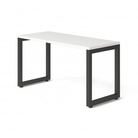 Стол Тавол КС 8.3 металл опоры черные 140смх60смх75см ДСП 32 мм Белый