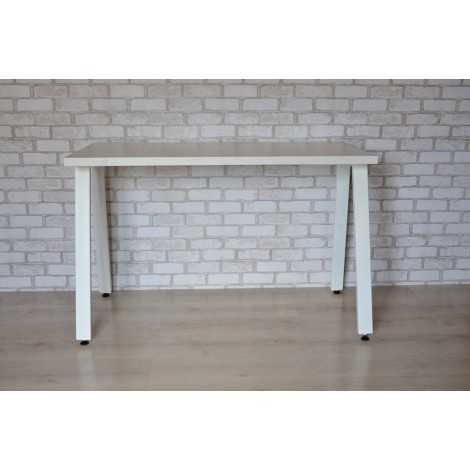 Стол Тавол КС 8.4 металл опоры белые 140смх60смх75см ДСП 32мм Белый
