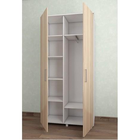 Шкаф Тавол Ясбел 2Д2СК 1000х450х2080 Белый/Ясень