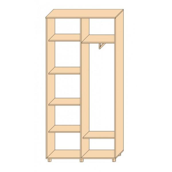 Шкаф с жалюзийными дверями из натурального дерева Тавол Сиеко 2Д2СК 1000х450х2080 Белый