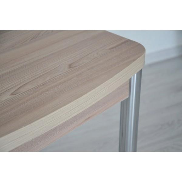 Комплект раскладной стол Тавол Овале + 3 стула хром Ясень