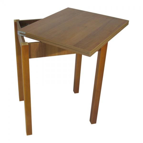 Стол кухонный раскладной Тавол Компакт ноги прямые дерево 50 см х 60 см х 75 см  Орех