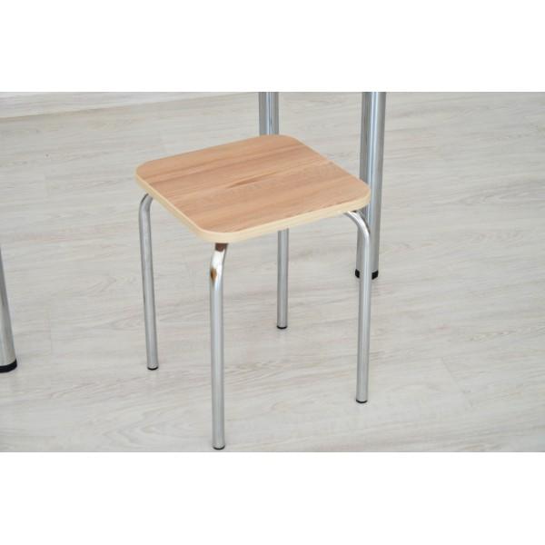 Стол Тавол Классик + 2 табурета 93смх60смх75см ножки хром Ясень