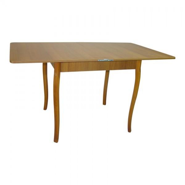 Стол обедненный раскладной Тавол Гранди 70 см х 80 см х 75 см ноги фигурное дерево Орех