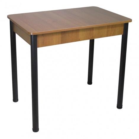 Стол Тавол Классик ноги металл черные 93 см х 60 см х 76 см Орех