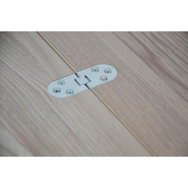 Стол Тавол Ретта раскладной 80 см х 60 см (120см х 80см) с металлическими хромированными ногами Ясень