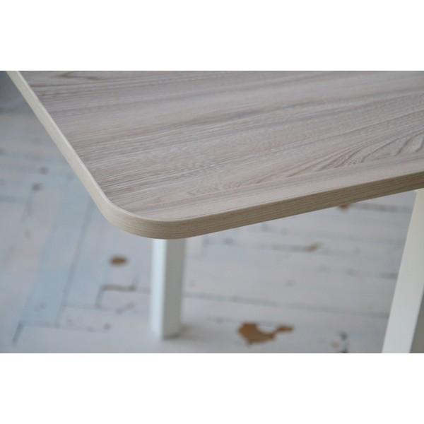 Стіл обідній розкладний Тавол Гранді ноги пряме дерево 70 см х 80 см х 75 см Ясен