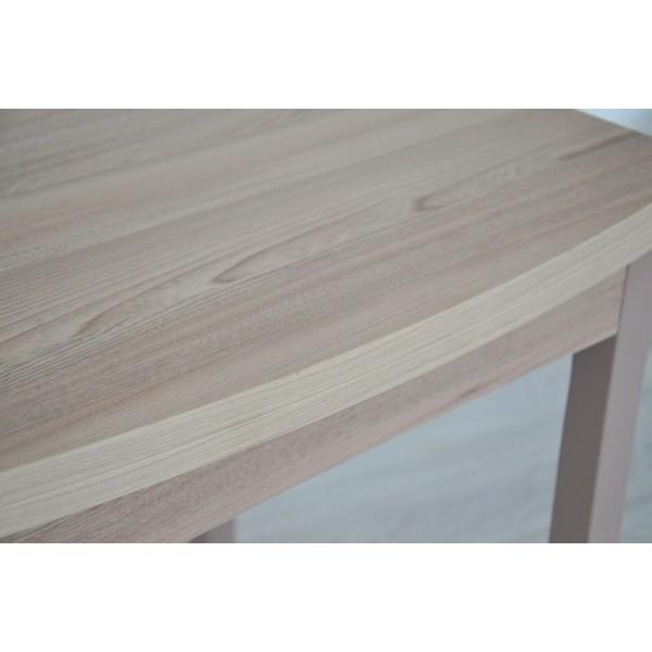 Стол раскладной Тавол Овале ноги прямые натуральное дерево 60 см х 70 см х 75 см овальный Ясень/Ясень