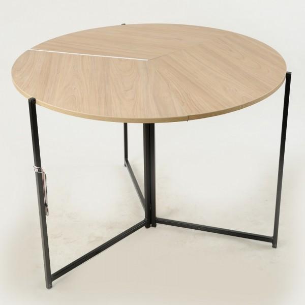 Стол раскладной круглый Тавол Пиланго D110 Дуб Сонома