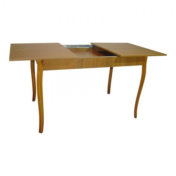 Стол раздвижной Тавол Скор 115 см х 75 см х 75 см ноги фигурные деревянные Орех