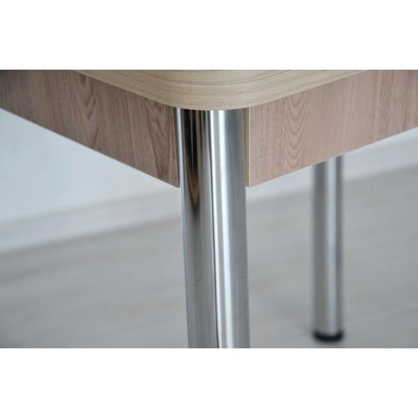 Стол раскладной Тавол Гранди ноги металл хром 80см х 70см х 75см Ясень