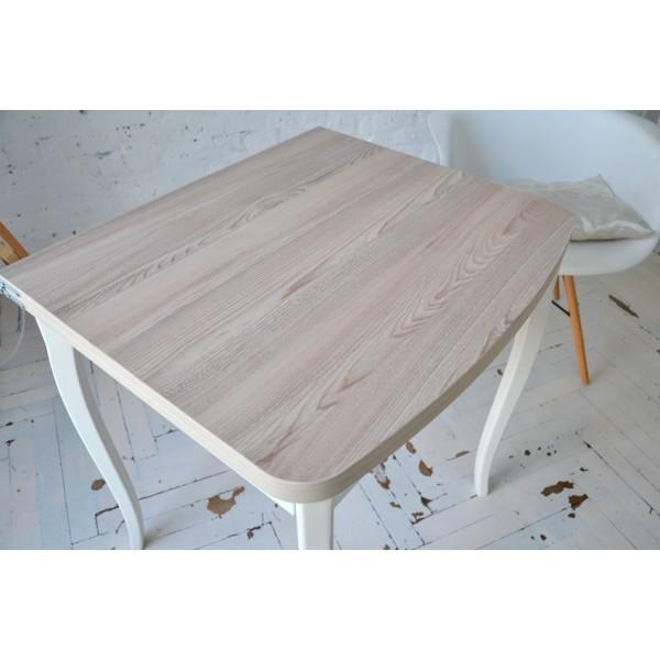 Стол раскладной Тавол Овале 60 см х 70 см х 75 см ноги фигурные натуральное дерево Ясень