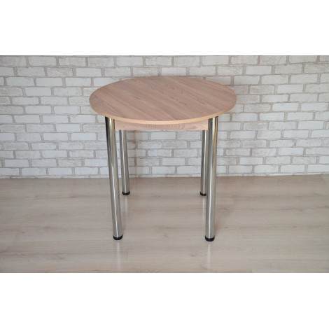 Круглый стол Тавол Крег D1000 ножки хром Ясень