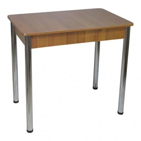 Стіл Тавол Класик ноги метал хром 93 см х 60 см х 76 см Горіх