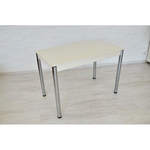 Комплект Тавол Видрис Б (Стол+4 табурета) 110смх65смх75см металл хром Белый