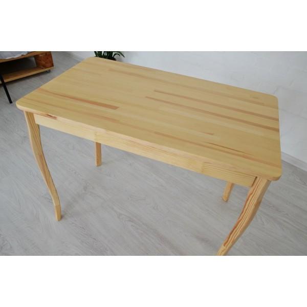 Стол из натурального дерева Тавол Легно с резными ногами 100смх60смх75см Натуральный