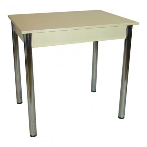 Обеденный Комплект Тавол Ретта (стол + 3 табурета) 80х60х75 металл хром Молочный