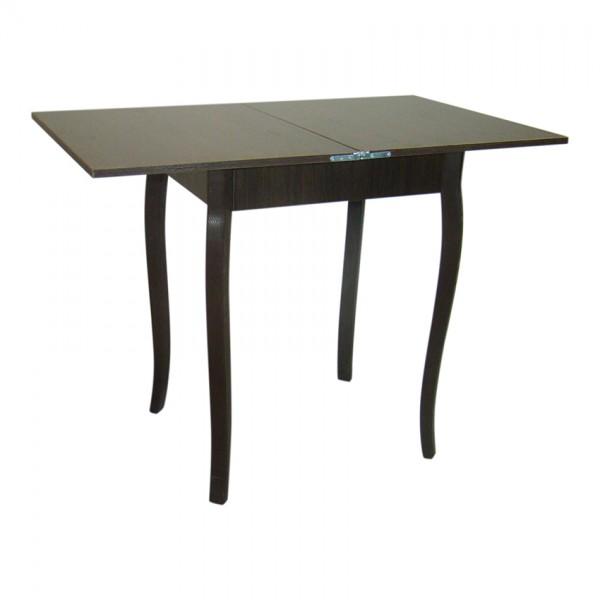 Стол кухонный раскладной Тавол Компакт 50 см х 60 см х 75 см ноги фигурные деревянные Венге