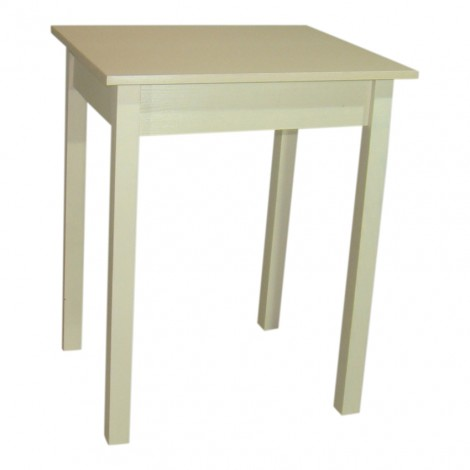 Стол кухонный раскладной Тавол Компакт 50 см х 60 см х 75 см ноги прямые дерево Молочный