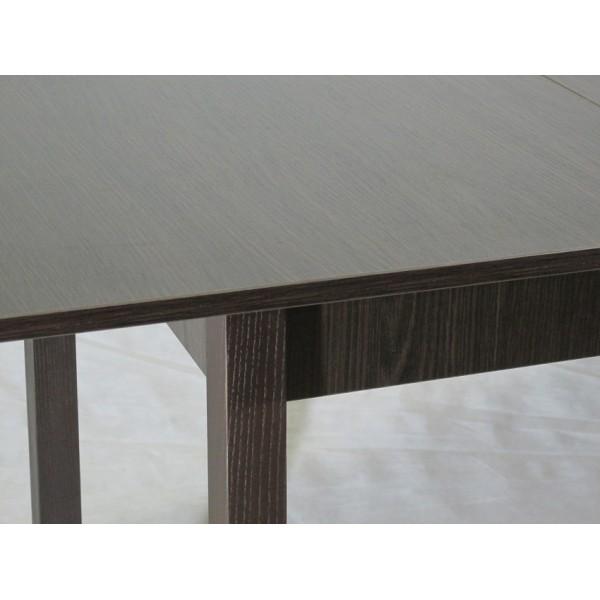 Стіл обідній розсувний Тавол Скор 115 см х 75 см х 75 см ноги пряме дерево Венге