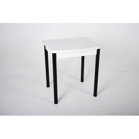 Раскладной стол Тавол Овале ноги металл черные Белый