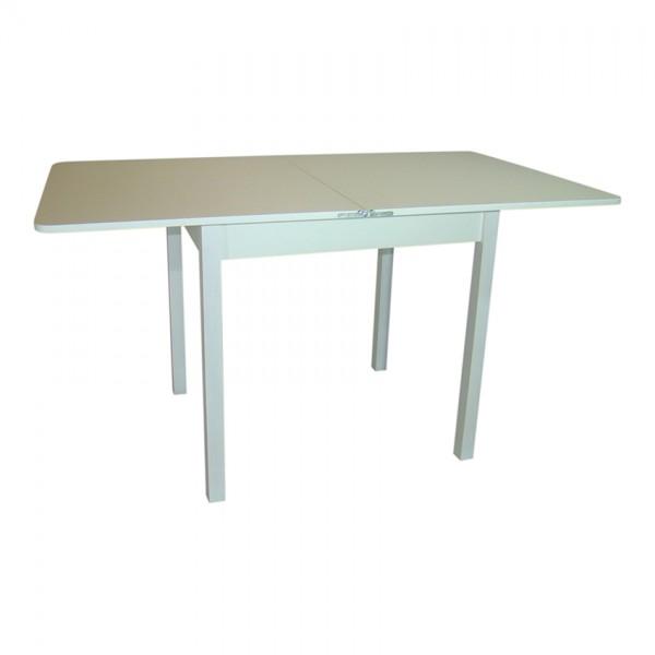 Стол обеденный раскладной Тавол Гранди 70 см х 80 см х 75 см ноги прямое дерево Белый