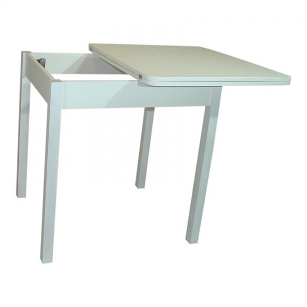 Стол обеденный раскладной Тавол Формади 65смх75смх75см ноги прямое дерево Белый