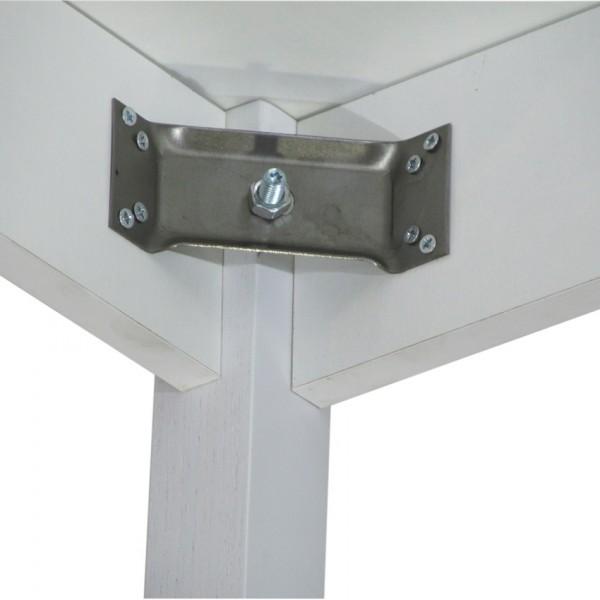 Стол раздвижной Тавол Скор 115 см х 75 см х 75 см ноги фигурные деревянные Белый