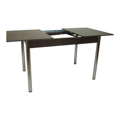 Стол обеденный раздвижной Тавол Скор 115  см х 75 см х 75 см ноги металл хром Венге