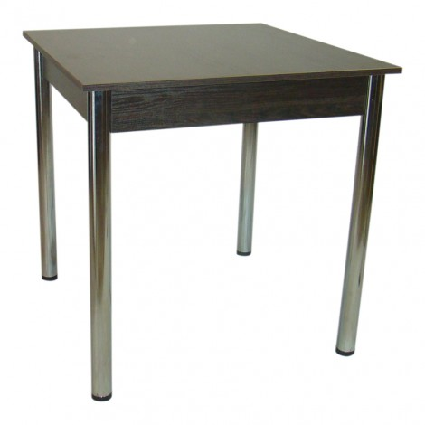 Стол Тавол Квадрат 75 см х 75 см х 75 см ноги хром метал Венге