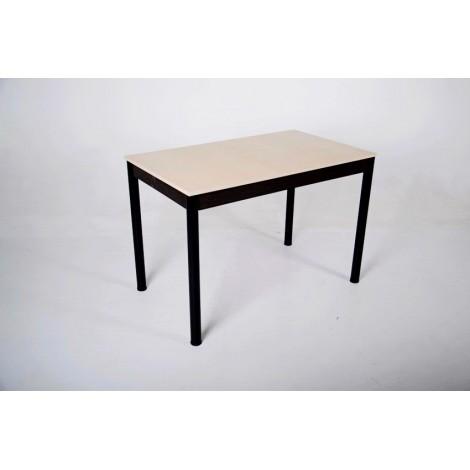 Стол Тавол Видрис Б 110смх65смх75см с черными металлическими ногами Молочный