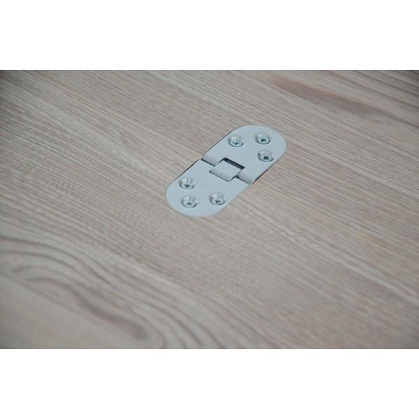 Стол Тавол Ретта раскладной 80 см х 60 см (120см х 80см) с прямыми деревянными ногами Ясень/Ясень