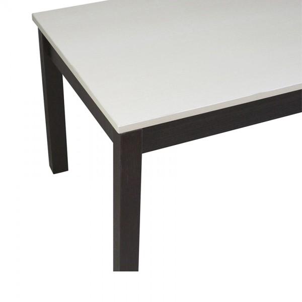 Журнальний стіл Тавол Рист 90смх50смх44см з дерев'яними ногами Венге Молочний