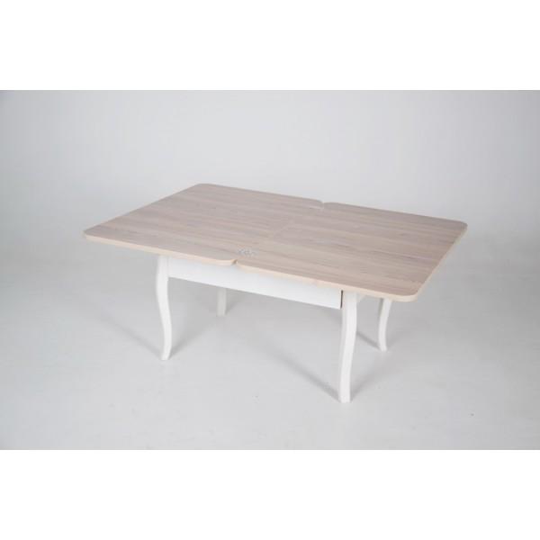 Стол трансформер Тавол Модерн с фигурными деревянными ножками Ясень