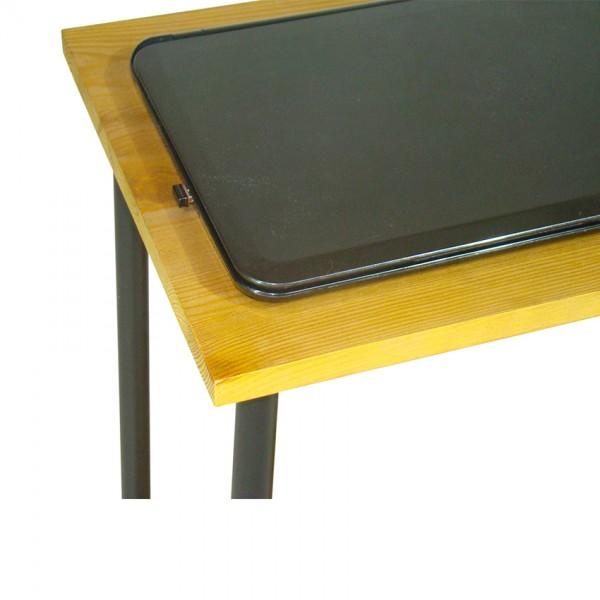 Журнальный столик из натурального дерева на колесиках Тавол Loco Лофт