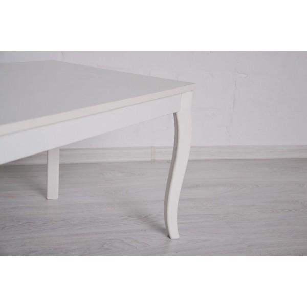Журнальный стол Тавол Рист 90смх50смх44см с фигурными деревянными ножками Белый