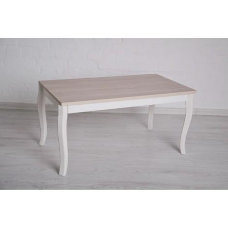 Журнальный стол Тавол Рист 90смх50смх44см с фигурными деревянными ножками Ясень