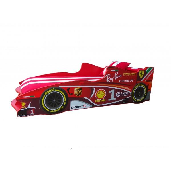 Кровать-машина детская Формула 1 F-1 с подъемным механизмом Viorina-Deko