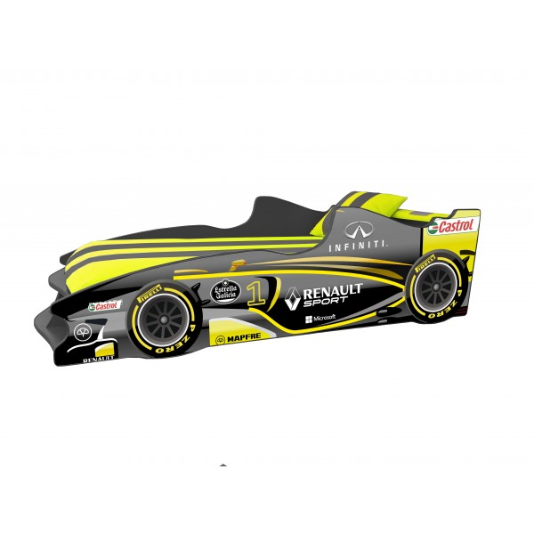Кровать-машина детская Формула 1 F-3 с подъемным механизмом Viorina-Deko